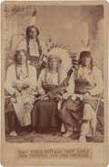 American Indian Art:Photographs, FOUR SIOUX CHIEFS. c.. 1880...