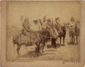 American Indian Art:Photographs, SIOUX INDIANS ON HORSEBACK . c. 1890...