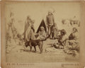 American Indian Art:Photographs, SIOUX CAMP SCENE . c. 1890...