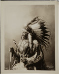 American Indian Art:Photographs, CHIEF BLUE HORSE . c. 1900...