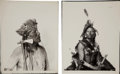 American Indian Art:Photographs, EAGLE BULL and CLEAR. c. 1900... (Total: 2 Items)