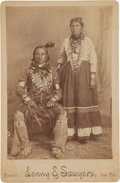 American Indian Art:Photographs, A CADDO/DELAWARE COUPLE. c. 1890...