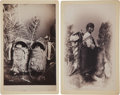 American Indian Art:Photographs, APACHE INFANTS and NAVAJO WOMAN AND BABY. c. 1890 ... (Total: 2 Items)
