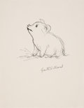 Miscellaneous, Garth Williams. Ink study of Wilbur, Charlotte's Web....