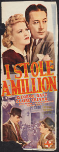 "Movie Posters:Mystery, I Stole a Million Lot (Universal, 1939). Pre-War Australian Daybills (5) (15"" X 39""). Mystery.. ... (Total: 5 Item)"