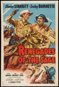 "Movie Posters:Western, Renegades of the Sage (Columbia, 1949). One Sheet (27"" X 41""). Western.. ..."