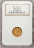 Classic Quarter Eagles, 1839-O $2 1/2 XF45 NGC. High Date, Wide Fraction, Breen-6512, Variety-27, R.3....