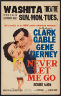 "Movie Posters:Adventure, Never Let Me Go Lot (MGM, 1953). Window Cards (2) (14"" X 22"").Adventure.. ... (Total: 2 Items)"