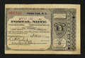 Miscellaneous:Other, Penn Yan, NY- Postal Note Type IV 2¢ Apr. 21, 1888. ...