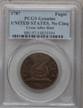Colonials, 1787 1C Fugio Cent, UNITED STATES, No Cinquefoils Genuine PCGS.Newman 1-B, W-6600, R.4....