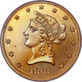 Proof Liberty Eagles, 1861 $10 PR64 PCGS. CAC....