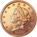 Proof Liberty Double Eagles, 1863 $20 PR64 Cameo NGC. CAC....