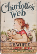 Books:Children's Books, [Garth Williams, illustrator]. E. B. White. GARTH WILLIAMS' COPY.Charlotte's Web. New York: Harper & Brothers, ...