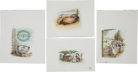 [Garth Williams]. Rosemary Wells. Group of Forty-Eight Illustrations for Charlotte's Web, Wi