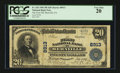 National Bank Notes:Pennsylvania, Bernville, PA - $20 1902 Plain Back Fr. 652 The First NB Ch. #8913. ...