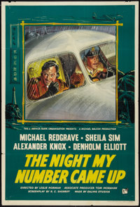 """The Night My Number Came Up (Rank, 1955). British One Sheet (27"""" X 40""""). Thriller"""