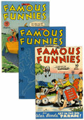 Golden Age (1938-1955):Miscellaneous, Famous Funnies Group (Eastern Color, 1945-46) Condition: Average VG/FN.... (Total: 10 Comic Books)