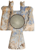 Antiques:Antiquities, A Mirror in a Blue Stone Frame...