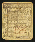 Colonial Notes:Delaware, Delaware January 1, 1776 20s Extremely Fine.. ...