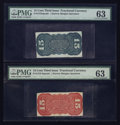 Fractional Currency:Third Issue, Fr. 1272SP and Fr. 1273-5SP 15¢ Third Issue Narrow Margin Backs PMG Choice Uncirculated 63.. ... (Total: 2 notes)