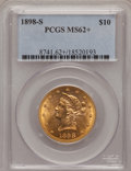 Liberty Eagles, 1898-S $10 MS62+ PCGS....