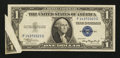 Error Notes:Gutter Folds, Fr. 1608 $1 1935A Silver Certificate. Extremely Fine.. ...