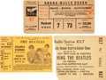 Music Memorabilia:Tickets, The Beatles Vintage Concert Ticket Stubs, 1965-'66... (Total: 3 )