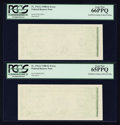 Error Notes:Blank Reverse (<100%), Fr. 1914-J $1 1988 Federal Reserve Notes. Two Examples. PCGS GemNew 66PPQ & Gem New 65PPQ.. ... (Total: 2 notes)