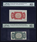Fractional Currency:Third Issue, Fr. 1291SP 25¢ Third Issue PMG Choice Uncirculated 63 EPQ & Fr. 1294SP 25¢ Third Issue PMG Gem Uncirculated 65 EPQ.. ... (Total: 2 notes)