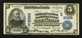 National Bank Notes:Louisiana, New Orleans, LA - $5 1902 Date Back Fr. 591 The Whitney-Central NB Ch. # (S)3069. ...