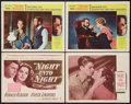 """Movie Posters:Drama, Night Unto Night Lot (Warner Brothers, 1949). Title Lobby Card and Lobby Cards (3) (11"""" X 14""""). Drama.. ... (Total: 4 Items)"""
