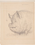 Miscellaneous, Garth Williams. Illustration #35, Charlotte's Web....(Total: 2 Items)