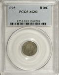 Early Half Dimes: , 1795 H10C AG3 PCGS. PCGS Population (5/453). NGC Census: (0/382).Mintage: 78,600. Numismedia Wsl. Price: $351. (#4251)...