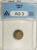 Early Half Dimes: , 1796 H10C AG3 ANACS. LM-1. NGC Census: (0/64). PCGS Population(0/74). Mintage: 10,230. Numismedia Wsl. Price: $427. (#4254...