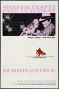 """Movie Posters:Crime, Bonnie and Clyde (Warner Brothers-Seven Arts, 1967). One Sheet (27""""X 41""""). Crime.. ..."""