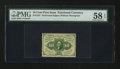 Fractional Currency:First Issue, Fr. 1241 10¢ First Issue. PMG Choice About Unc 58 EPQ.. ...