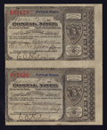Miscellaneous:Other, Portland, OR- Postal Notes Type V Uncut Pair 1¢ June 28, 1894. ...