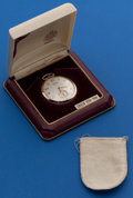 Timepieces:Pocket (post 1900), Gruen 12 Size, 14k Gold With Original Box. ...