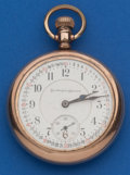 Timepieces:Pocket (post 1900), Burlington 19 Jewel, 16 Size Bridge Model. ...