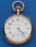 Timepieces:Pocket (post 1900), Hampden 18 Size, 17 Jewel, Two-Tone Special Railway. ...