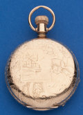Timepieces:Pocket (post 1900), Elgin 6 Size Hunters Case Pocket Watch. ...