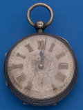 Timepieces:Pocket (pre 1900) , Swiss 55 mm, Silver Lever Fusee Pocket Watch. ...