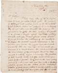 """Autographs:U.S. Presidents, [Andrew Jackson] George Bibb Autograph Letter Signed to Peter A.Grotjan of Philadelphia. Nine and one-half pages, 8"""" x 10"""",..."""