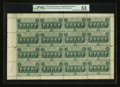 Fractional Currency:First Issue, Fr. 1310 50¢ First Issue Complete Sheet of Sixteen. PMG AboutUncirculated 53.. ...