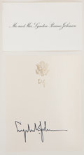 Autographs:U.S. Presidents, Lyndon B. Johnson Book Signed. The Vantage Point: Perspectivesof the Presidency 1963-1969. (New York: Holt, Rinehart, a...