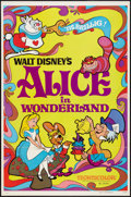 "Movie Posters:Animation, Alice in Wonderland (Buena Vista, R-1974). One Sheet (27"" X 41"")and French Lobby Card Set of 14 (9.5"" X 11.5""). Animation....(Total: 15 Items)"