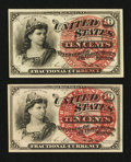 Fr. 1257 10¢ Fourth Issue & Fr. 1258 10¢ Fourth Issue. Very Choice New