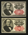 Fractional Currency:Fifth Issue, Fr. 1308 25¢ Fifth Issue & Fr. 1309 25¢ Fifth Issue. . ...(Total: 2 notes)