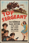 """Movie Posters:Crime, Top Sergeant (Universal, 1942). One Sheet (27"""" X 41""""). Crime.. ..."""