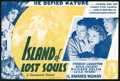 """Movie Posters:Horror, Island of Lost Souls (Paramount, 1933). Herald (6"""" X 9""""). Horror.. ..."""